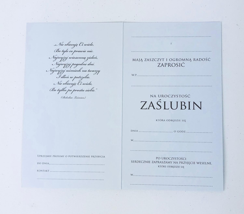 Zaproszenia ślubne / PMZ-025