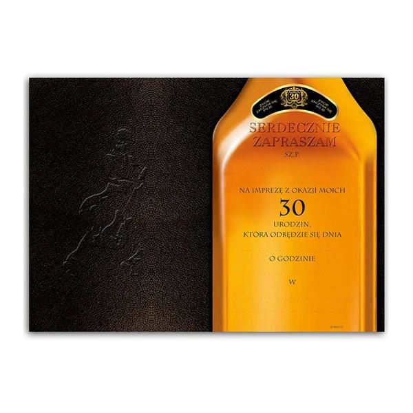 Zaproszenia na 30 urodziny whisky / ZX6806