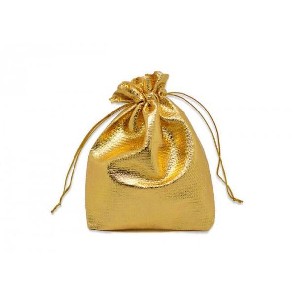 Woreczki metaliczne złote / 10x13 cm