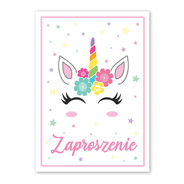 Zaproszenia z jednorożcem na urodziny dziewczynki / ZX6818