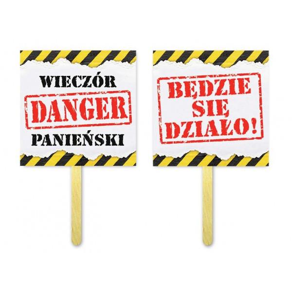 Akcesoria do fotobudki - tabliczki Wieczór Panieński, Danger będzie się działo / TL28