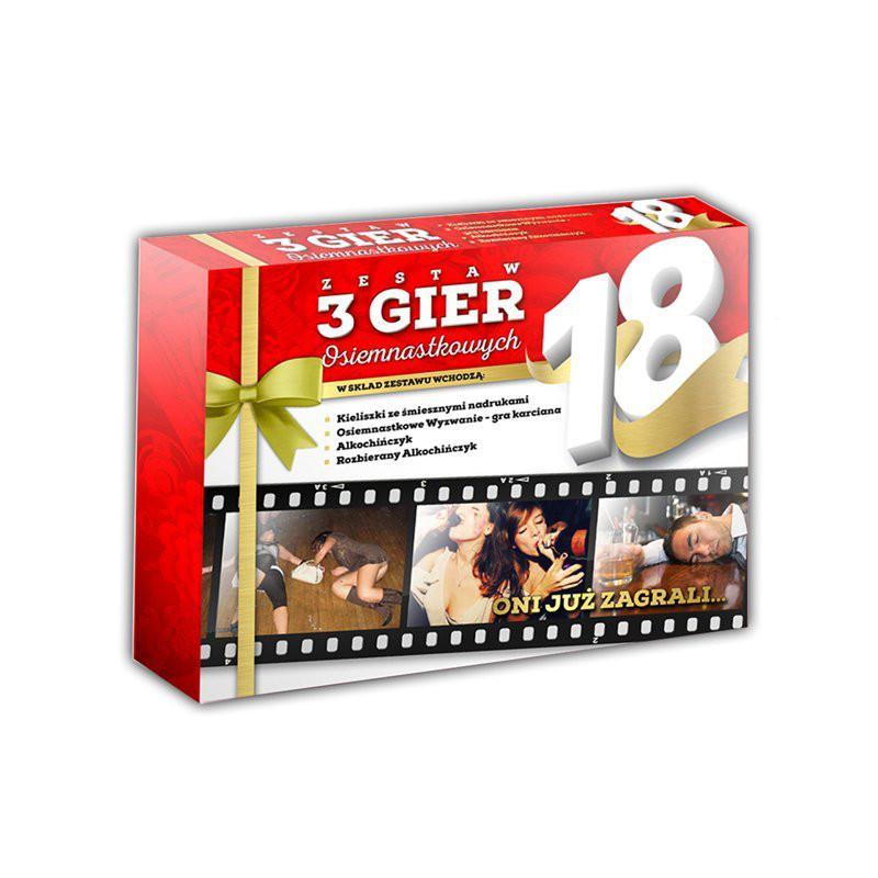 Gra - zestaw 3 gier 18-tkowych