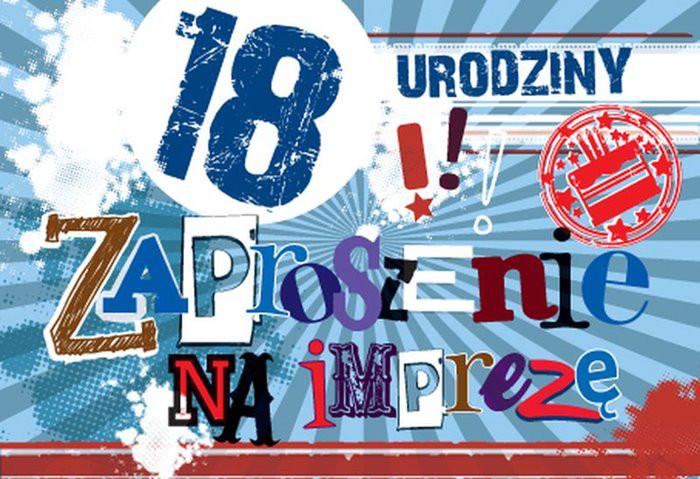 Zaproszenia na osiemnastkę / ZZ-032