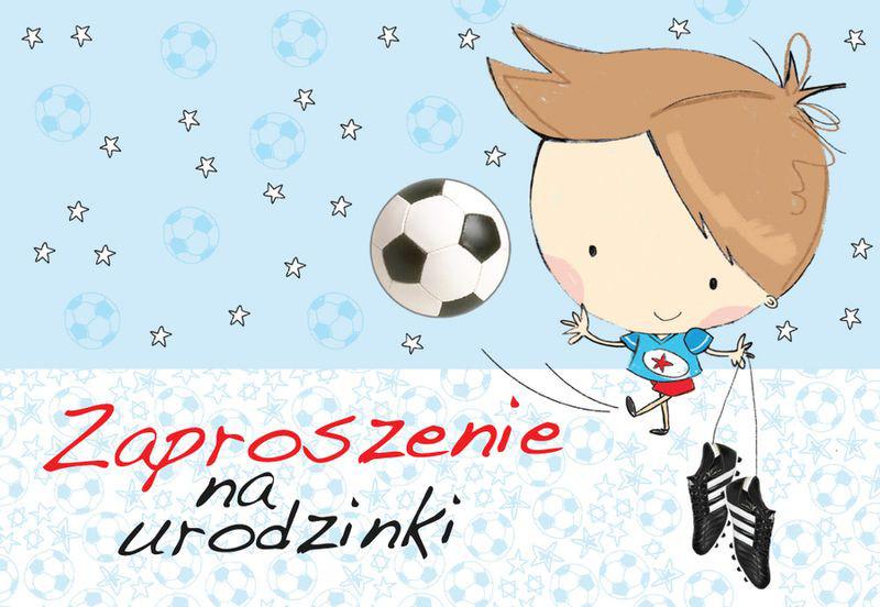"""Zaproszenia na urodziny """"Piłkarz"""" / ZZ-024"""