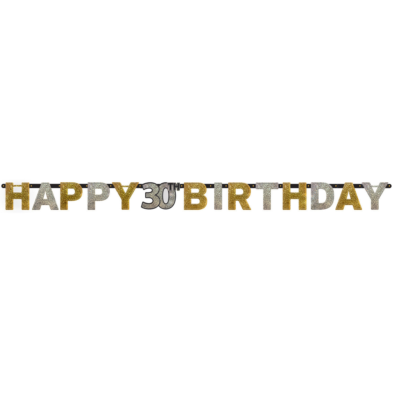 """Girlanda urodzinowa """"Happy 30 Birthday"""" / 1200207"""