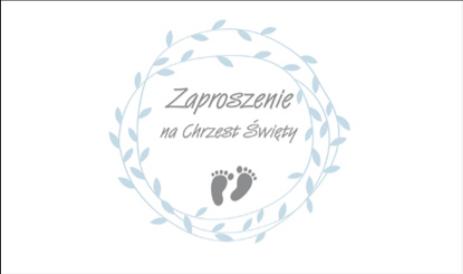 Zaproszenia na Chrzest Święty dla chłopca / Z_OGCHR_49123