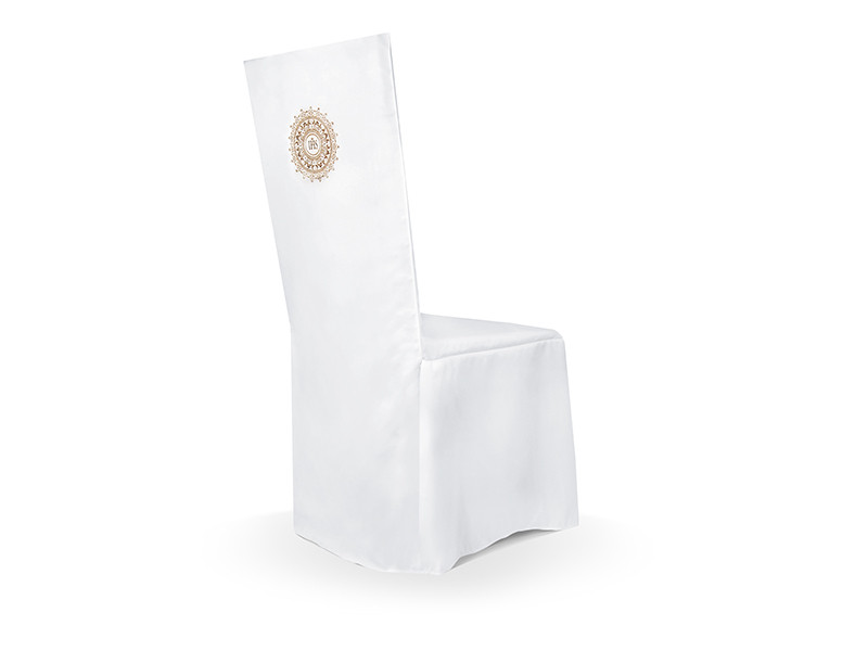 Pokrowiec komunijny na krzesło, biały