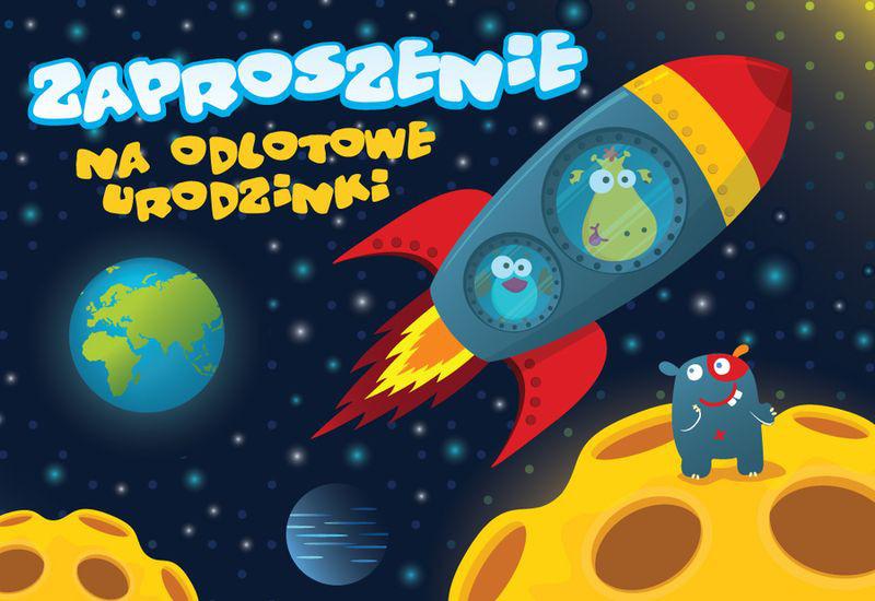 """Zaproszenia na urodziny """"Kosmos"""" / ZZ-027"""