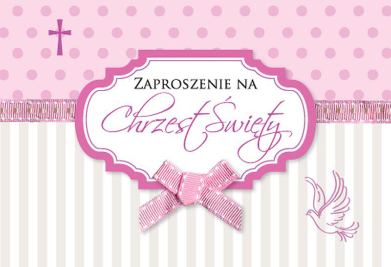 Zaproszenia na Chrzest Święty dziewczynki / ZZ-040