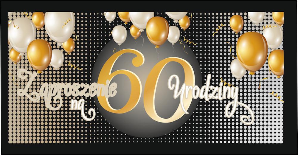 Zaproszenia na 60 urodziny / Z84