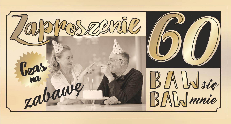 Zaproszenia na 60 urodziny / Z92