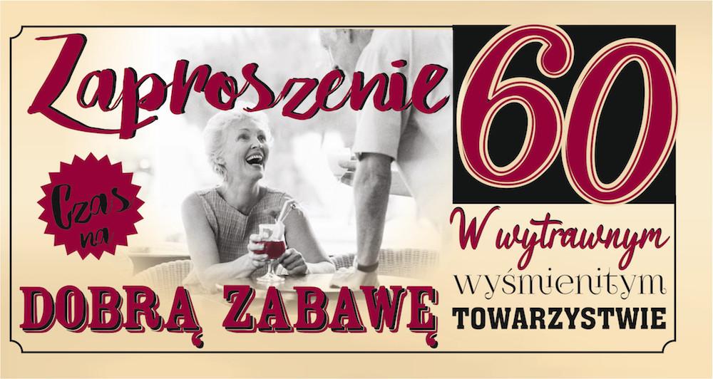 Zaproszenia na 60 urodziny / Z87