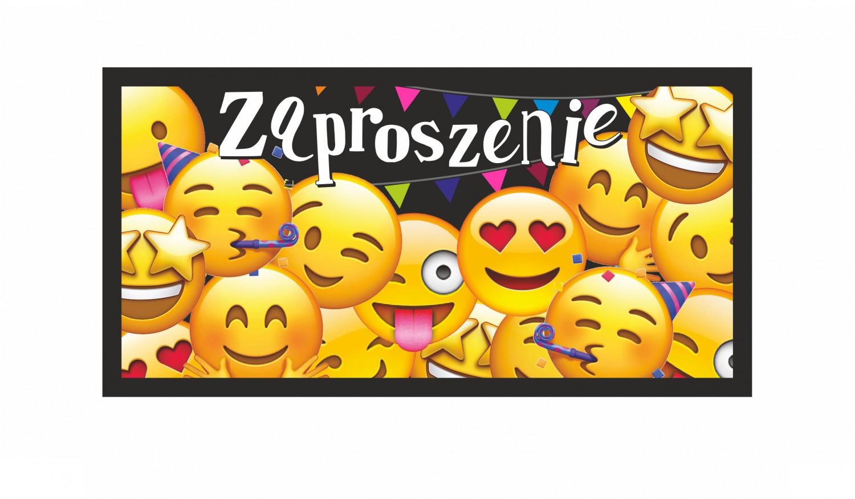 Zaproszenia na urodziny emotki / Z89