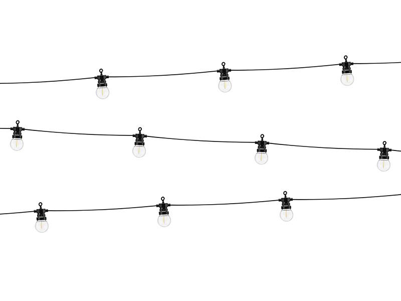 Lampki czarne dekoracyjne LED / 5 m