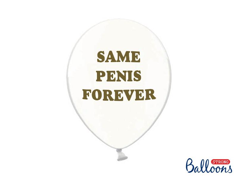"""Balony na Wieczór panieński """"same Penis Forever"""" / 30 cm"""