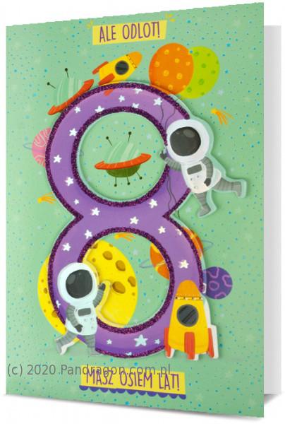 Karnet z okazji 8 urodzin / HM200-1945