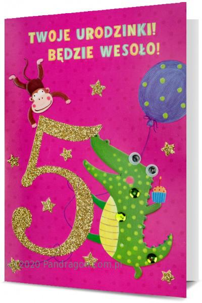 Karnet z okazji 5 urodzin / HM200-1702