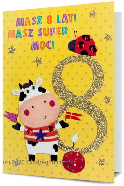 Karnet z okazji 8 urodzin / HM200-1705