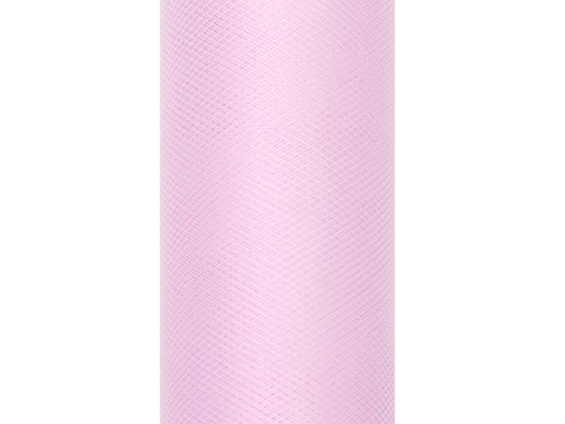 Tiul gładki, jasny róż / 0,8 x 9m