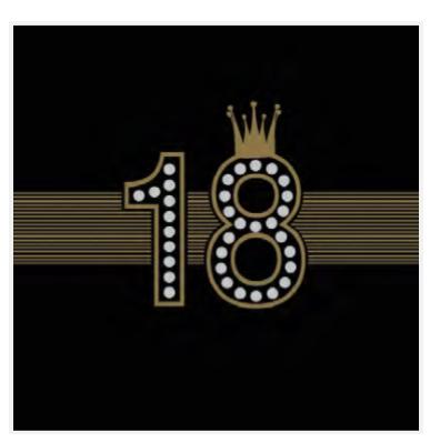 Serwetki na 18 urodziny / 33x33 cm