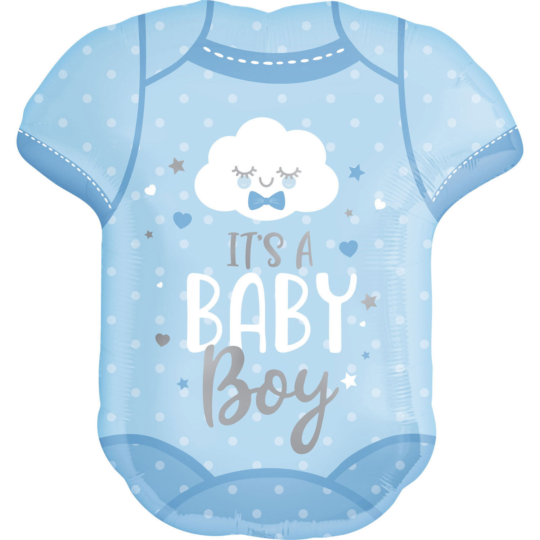 """Balon foliowy śpioszki """"It is Baby Boy"""" / 55x60 cm"""