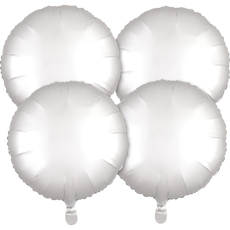 Multi-Pack balon foliowy Satin Luxe - Okrągły biały / 43 cm