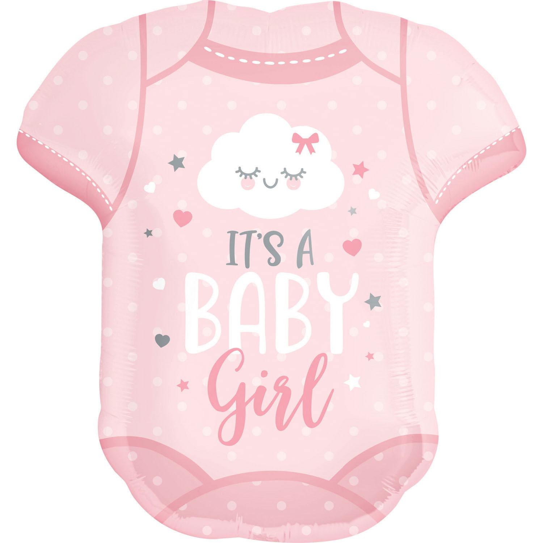 """Balon foliowy śpioszki """"It is Baby Girl"""" / 55x60 cm"""