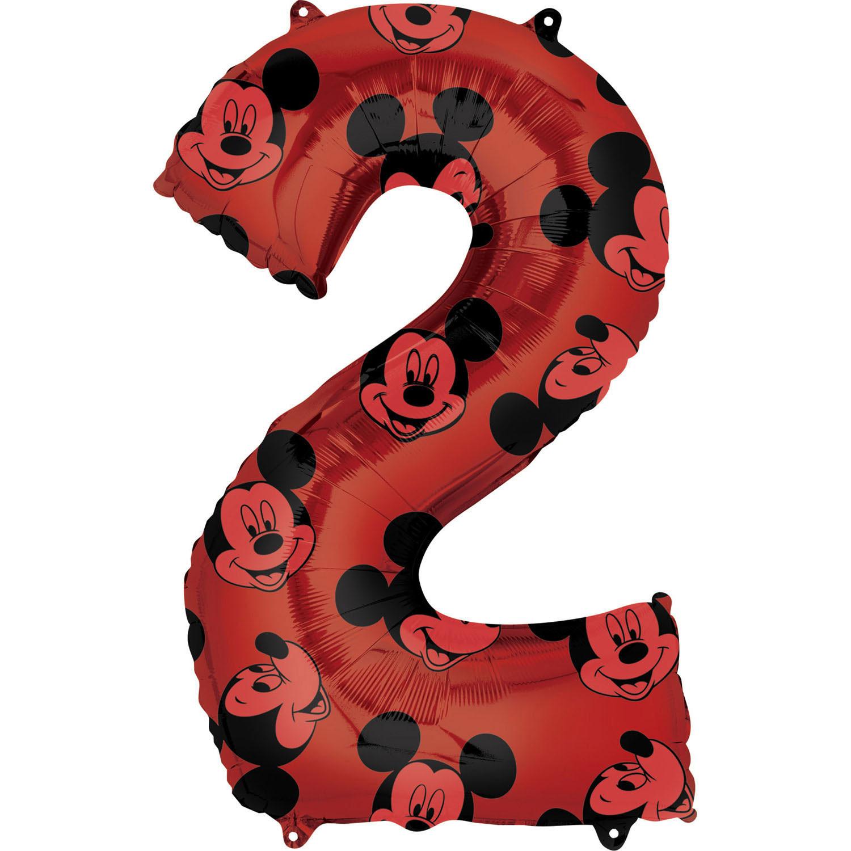 """Balon foliowy cyferka """"2"""" z Myszką Mickey / 66 cm"""