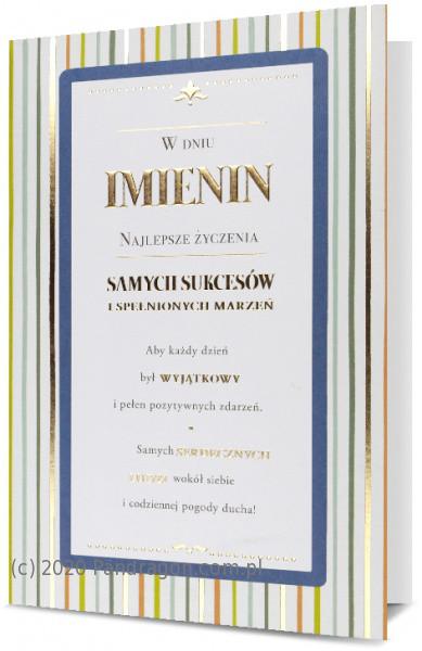 """Karnet """"W dniu imienin"""" / HM200-1856"""