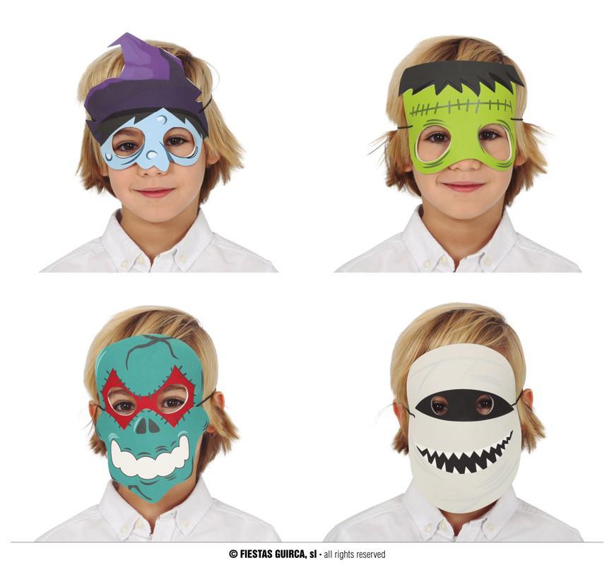 Maska na Halloween, dziecięca - mix wzorów