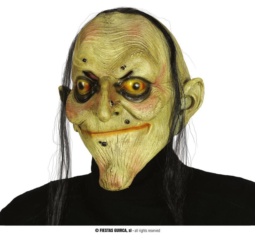 """Maska na Halloween """"Zombie"""" z włosami / 2393"""
