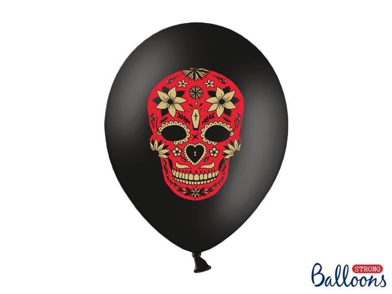 """Balony na Halloween """"Dia de los Muertos"""", Pastel Black"""