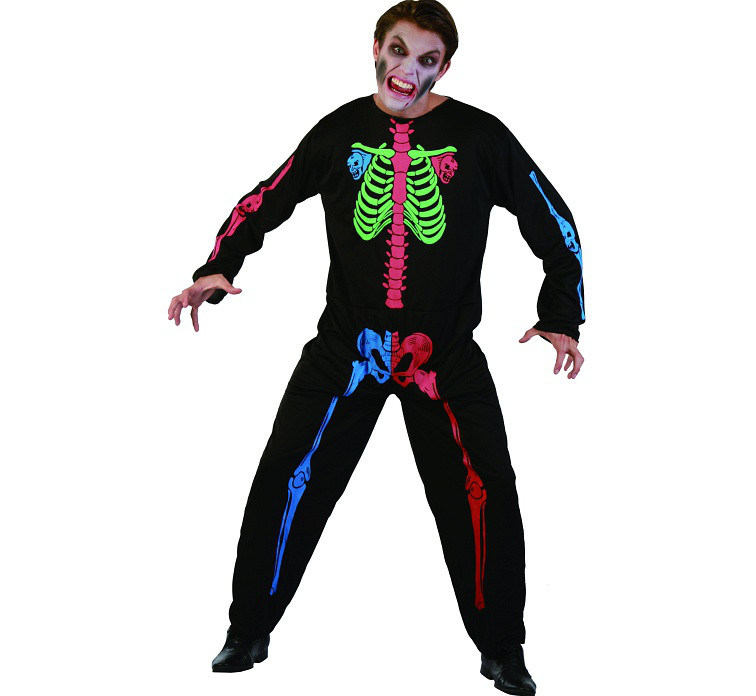 """Strój na Halloween """"Kombinezon Neonowy Szkieletor"""" / rozm.uniwersalny"""
