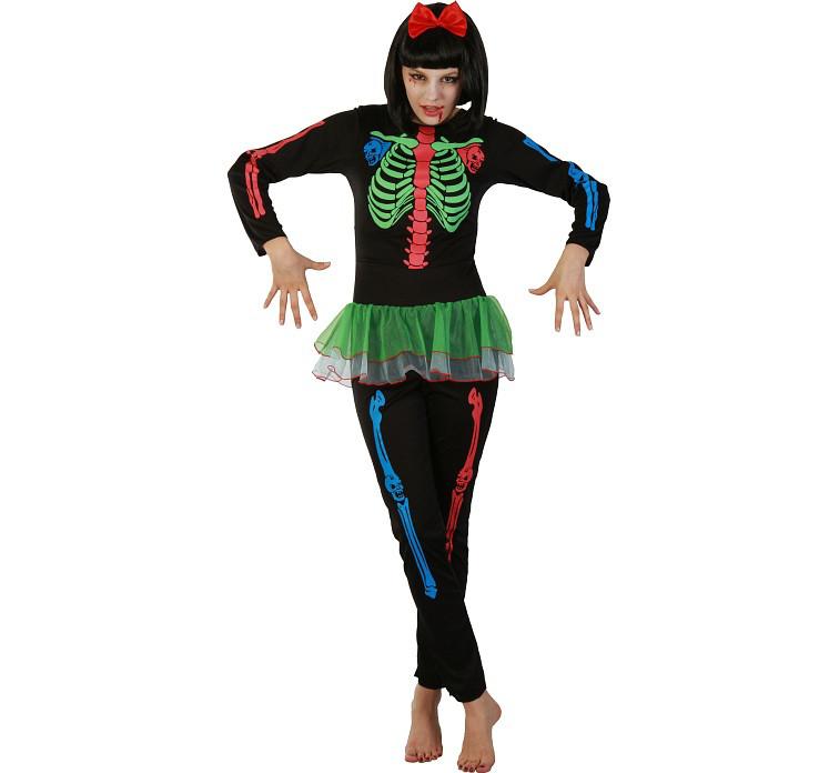 """Strój na Halloween """"Szkieletorka Neonowa"""""""