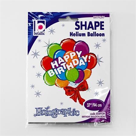 """Balon foliowy 37"""" pęk balonów z napisem """"Happy Birthday"""""""