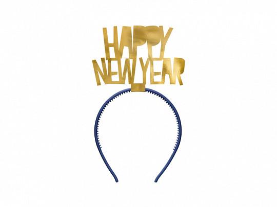 "Opaska sylwestrowa ""Happy New Year""/ OPP34-019M"