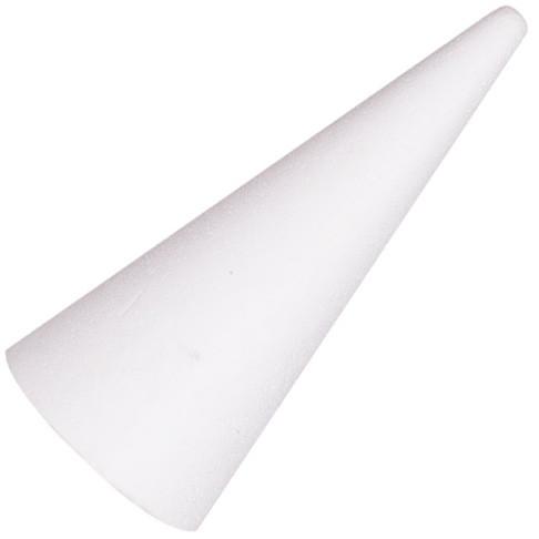 Stożek styropianowy / 15 cm