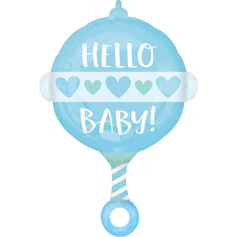 """Balon grzechotka dla chłopca """"Hello Baby"""""""