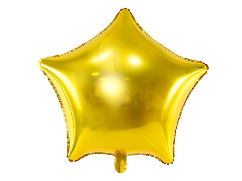 Balon Gwiazdka złota / 70 cm