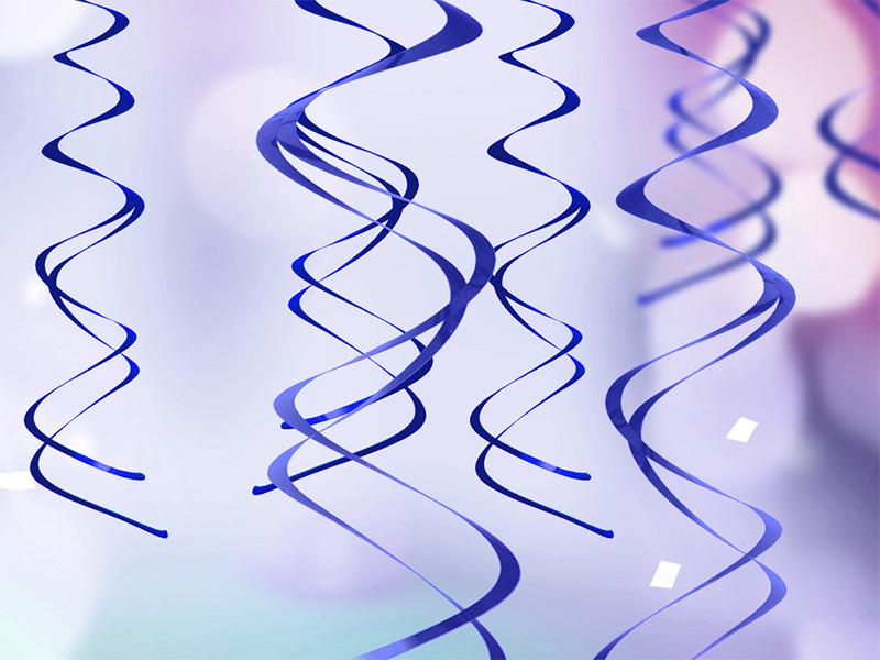 Świderki dekoracyjne niebieskie / SWID20-001
