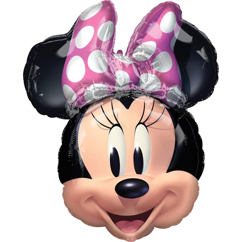 Balon głowa Myszki Minnie / 53x66 cm