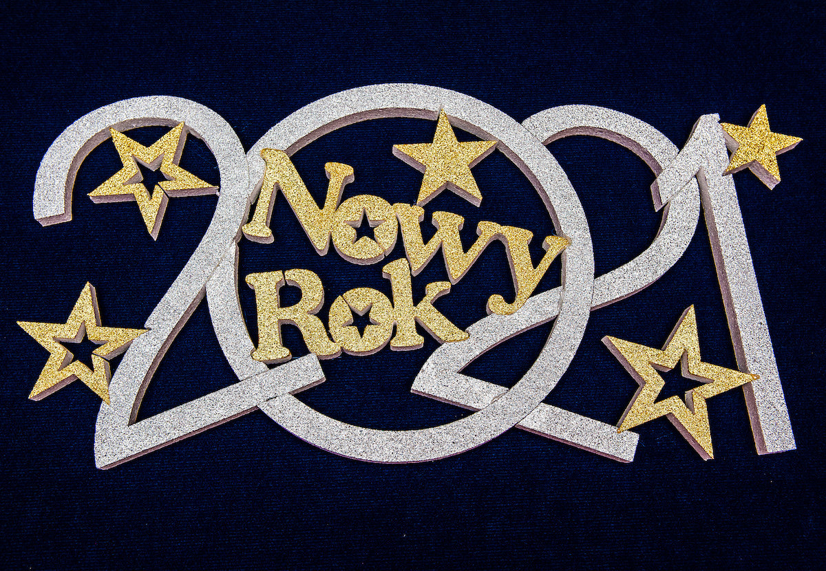 "Napis ""Nowy Rok 2021"" / NNR4"