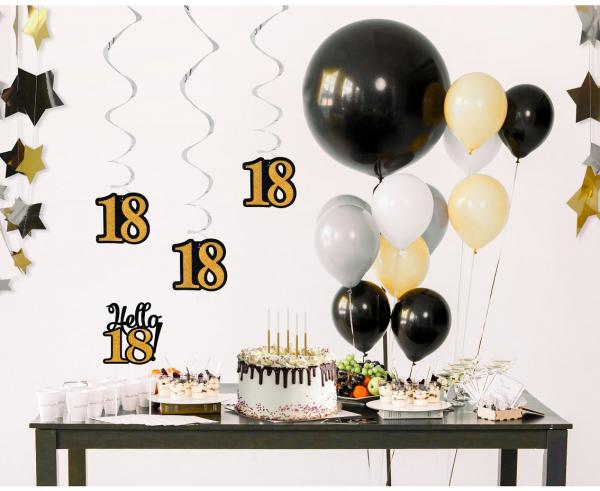 Spiralki dekoracyjne na 18 urodziny