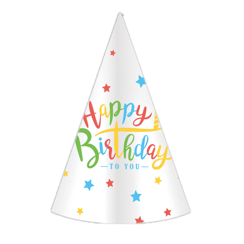 """Czapeczki urodzinowe """"Happy Birthday"""" /"""