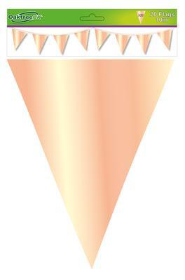 Dekoracja trójkąty różowe złoto / 20 flag