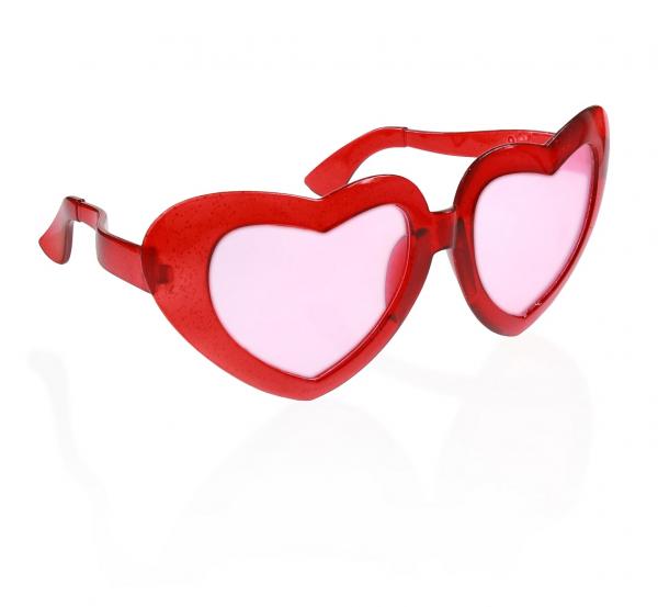 Okulary jumbo czerwone Serca