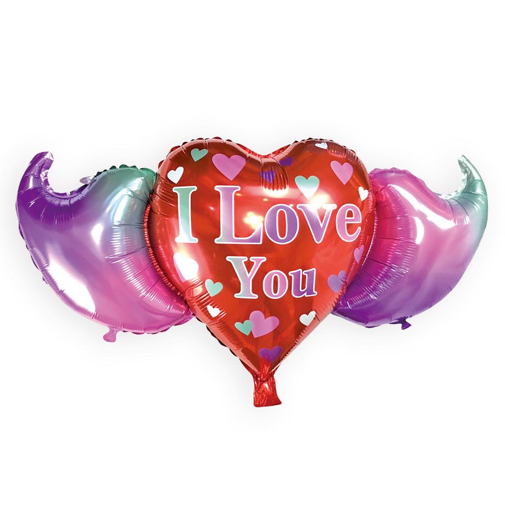 "Balon foliowy Serce ""I Love You"" / 45 cm"