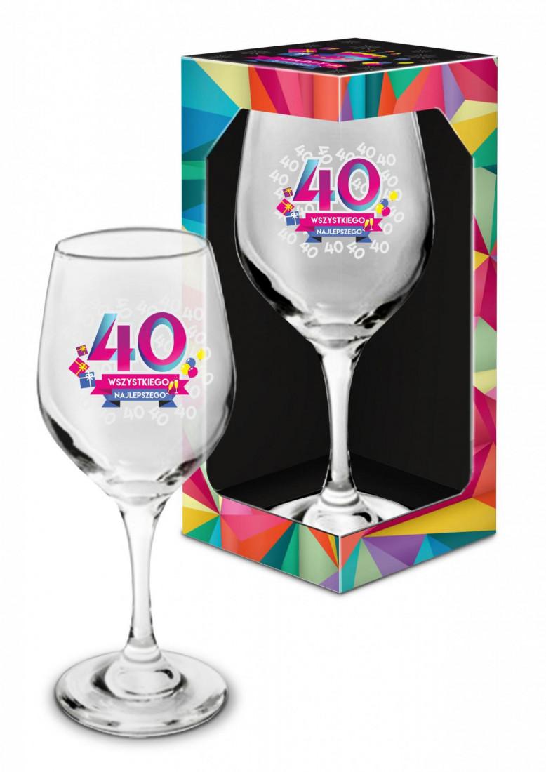 Kieliszek do wina na 40 urodziny / 270 ml
