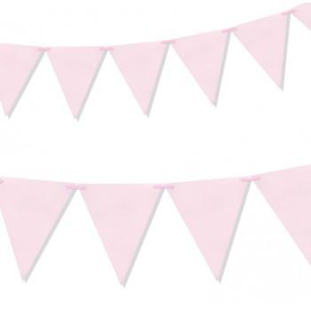 Girlanda różowe chorągiewki / 160 cm