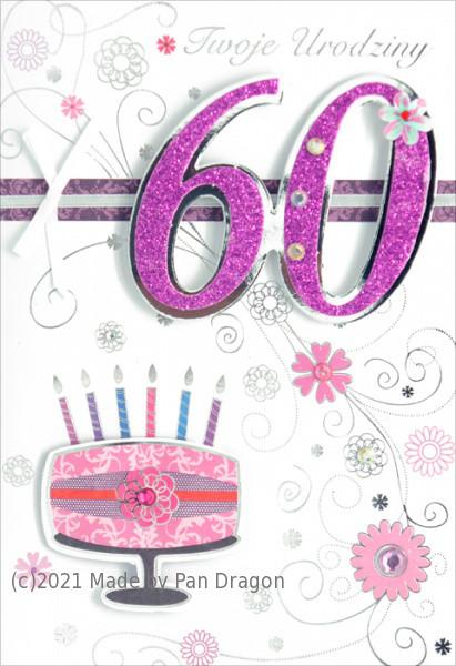 Karnet 60 Urodziny / HM-200-503